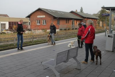training am bahnsteig